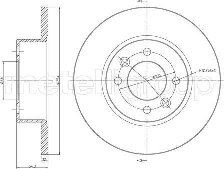 Metelli 23-0218 - Bremžu diski interparts.lv