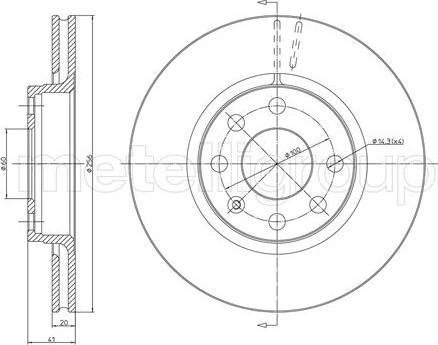 Metelli 23-0284 - Bremžu diski interparts.lv