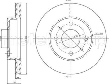 Metelli 23-0282 - Bremžu diski interparts.lv