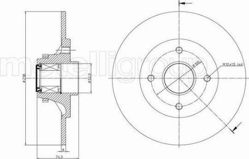 Metelli 23-0236 - Bremžu diski interparts.lv