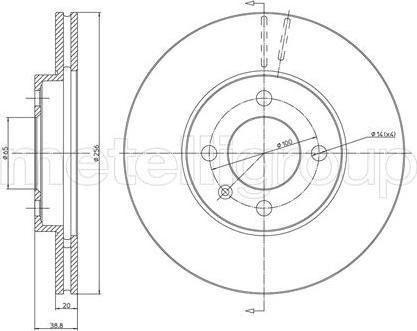 Metelli 23-0230C - Bremžu diski interparts.lv