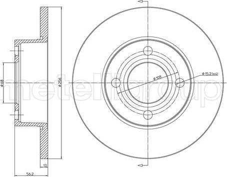 Metelli 23-0233 - Bremžu diski interparts.lv