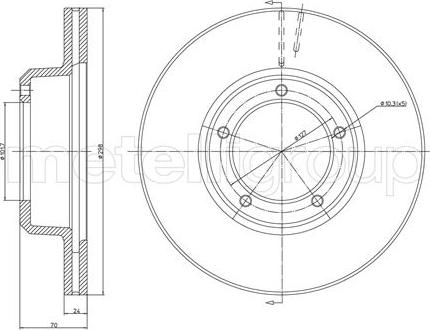 Metelli 23-0237 - Bremžu diski interparts.lv