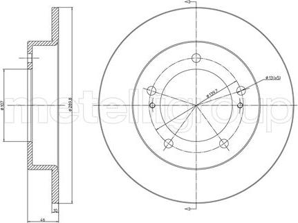 Metelli 23-0221 - Bremžu diski interparts.lv