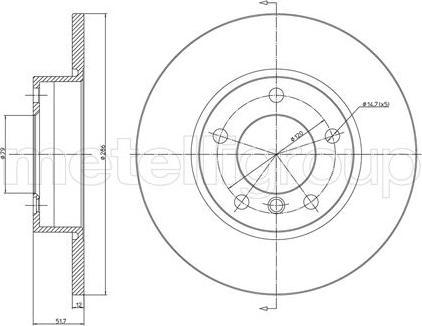Metelli 23-0227C - Bremžu diski interparts.lv