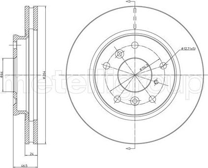 Metelli 23-0274 - Bremžu diski interparts.lv