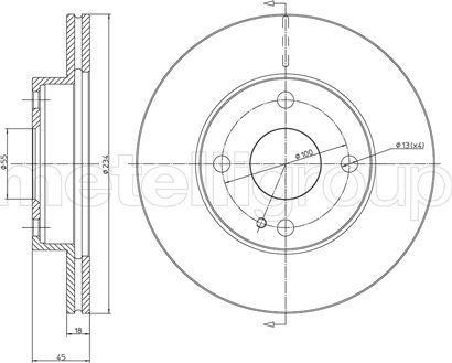 Metelli 23-0276 - Bremžu diski interparts.lv