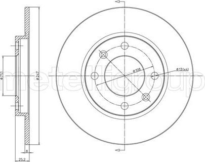 Metelli 23-0271 - Bremžu diski interparts.lv