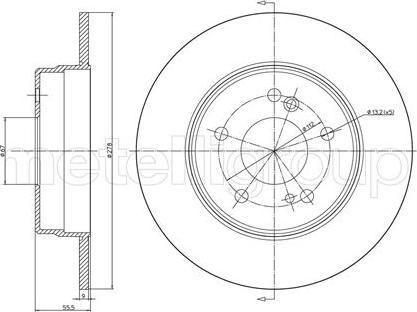 Metelli 23-0277C - Bremžu diski interparts.lv
