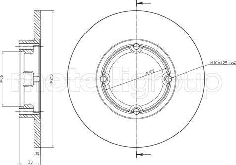 Metelli 23-0756 - Bremžu diski interparts.lv