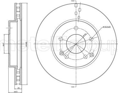 Metelli 23-0701C - Bremžu diski interparts.lv