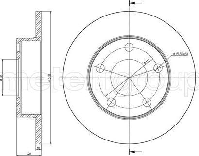 Metelli 23-0708C - Bremžu diski interparts.lv