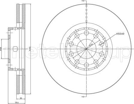 Metelli 23-0707C - Bremžu diski interparts.lv