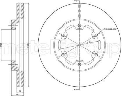 Metelli 23-0710 - Bremžu diski interparts.lv