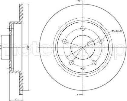 Metelli 23-0786 - Bremžu diski interparts.lv
