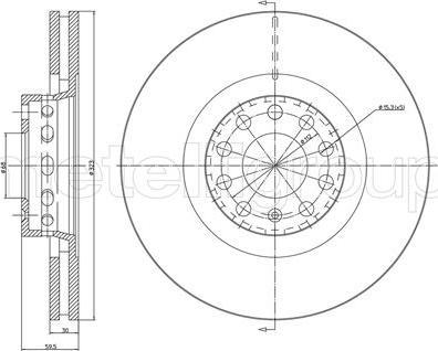 Metelli 23-0737C - Bremžu diski interparts.lv
