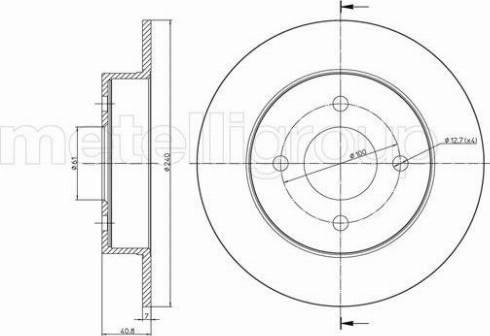 Metelli 23-0720 - Bremžu diski interparts.lv