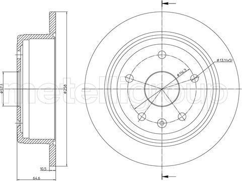 Metelli 23-1488C - Bremžu diski interparts.lv