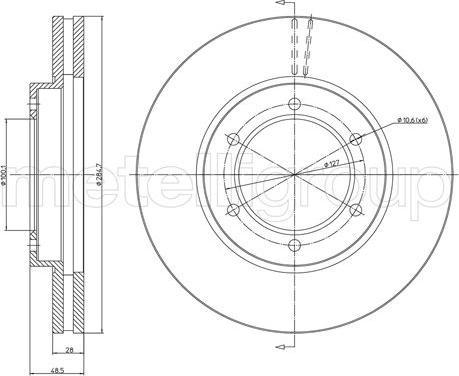 Metelli 23-1574 - Bremžu diski interparts.lv