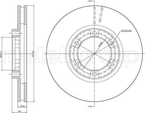 Metelli 23-1570 - Bremžu diski interparts.lv