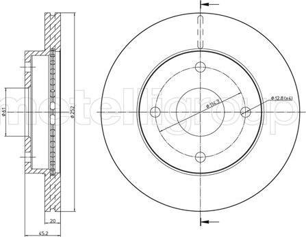Metelli 23-1578 - Bremžu diski interparts.lv