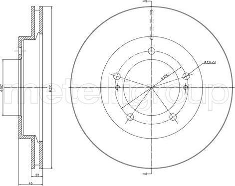 Metelli 23-1573 - Bremžu diski interparts.lv