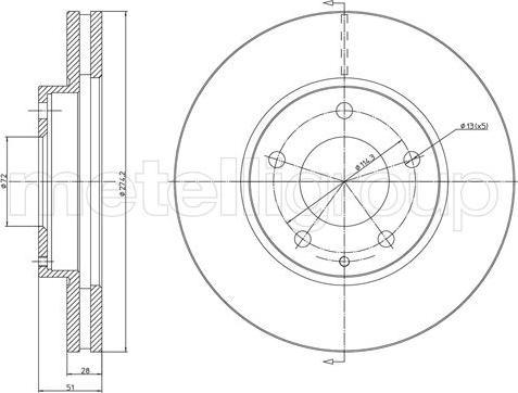 Metelli 23-1572 - Bremžu diski interparts.lv