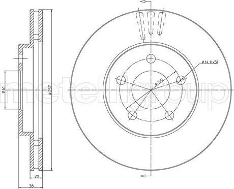 Metelli 23-1629C - Bremžu diski interparts.lv