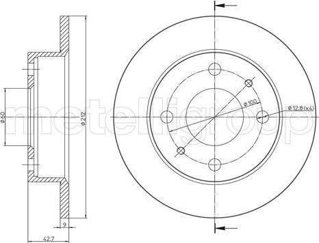 Metelli 23-1626 - Bremžu diski interparts.lv