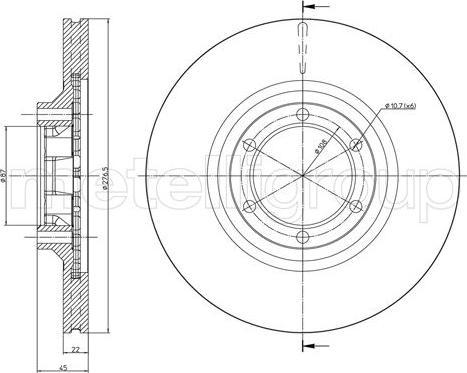 Metelli 23-1620C - Bremžu diski interparts.lv
