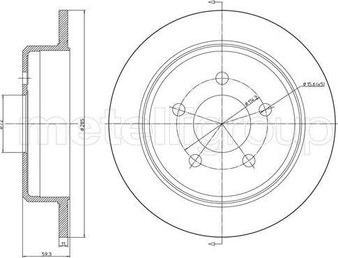Metelli 23-1628C - Bremžu diski interparts.lv