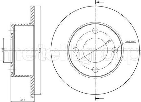 Metelli 23-1670C - Bremžu diski interparts.lv