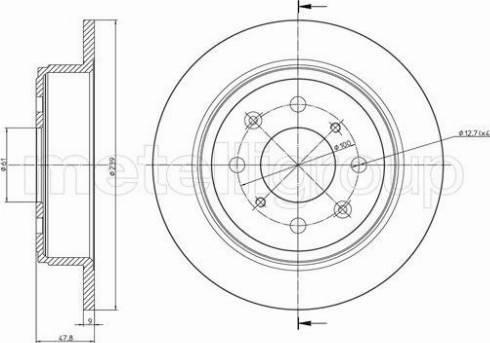 Metelli 23-1049C - Bremžu diski interparts.lv