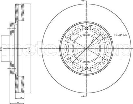 Metelli 23-1058C - Bremžu diski interparts.lv