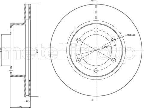 Metelli 23-1064C - Bremžu diski interparts.lv