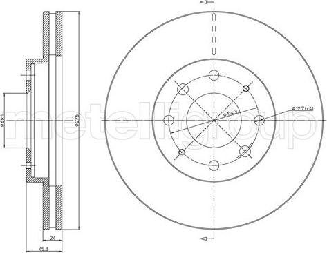 Metelli 23-1066C - Bremžu diski interparts.lv