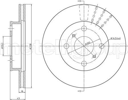 Metelli 23-1061 - Bremžu diski interparts.lv