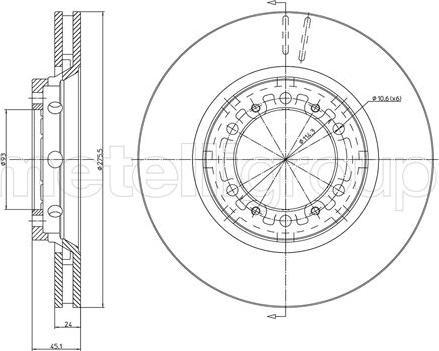 Metelli 23-1080C - Bremžu diski interparts.lv
