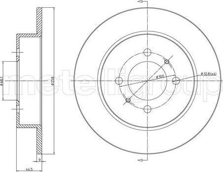 Metelli 23-1083C - Bremžu diski interparts.lv