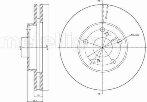 Metelli 23-1028 - Bremžu diski interparts.lv