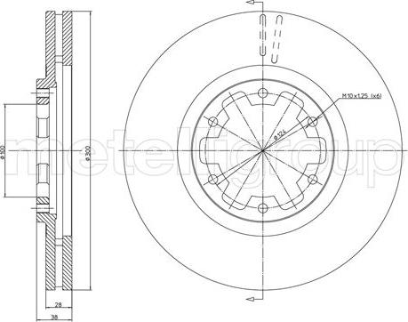 Metelli 23-1160 - Bremžu diski interparts.lv