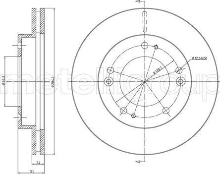 Metelli 23-1101C - Bremžu diski interparts.lv