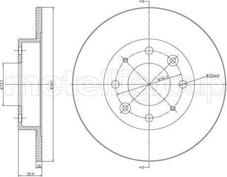 Metelli 23-1111C - Bremžu diski interparts.lv