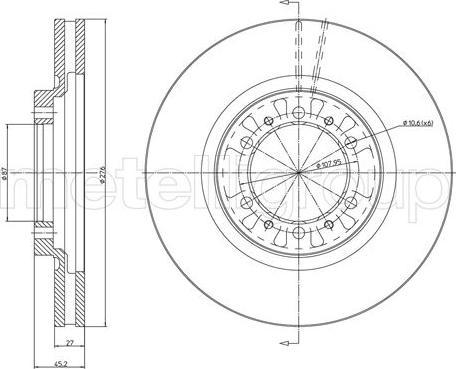 Metelli 23-1187C - Bremžu diski interparts.lv
