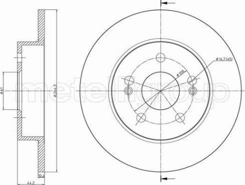 Metelli 23-1139C - Bremžu diski interparts.lv