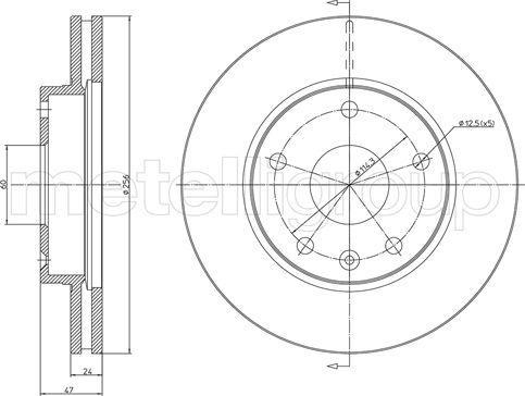 Metelli 23-1137 - Bremžu diski interparts.lv