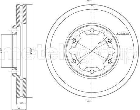 Metelli 23-1175 - Bremžu diski interparts.lv