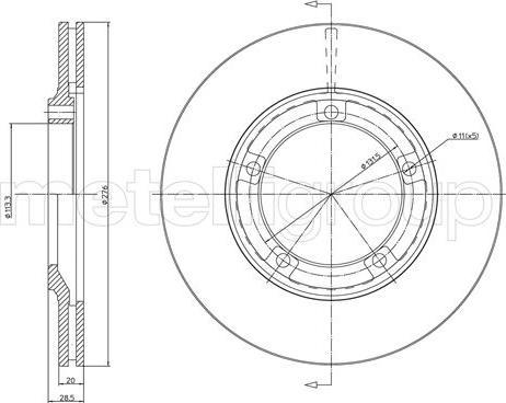Metelli 23-1740 - Bremžu diski interparts.lv