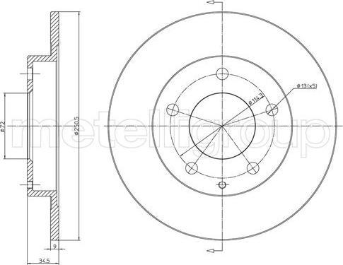 Metelli 23-1741C - Bremžu diski interparts.lv