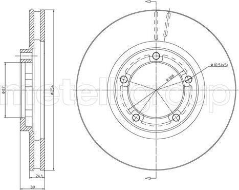 Metelli 23-1748 - Bremžu diski interparts.lv